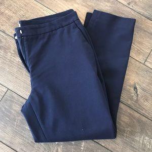 Ankle Navy Dress Pants